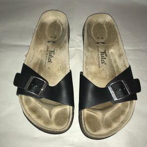 Tula by Birkenstock black slide sandal 39/8